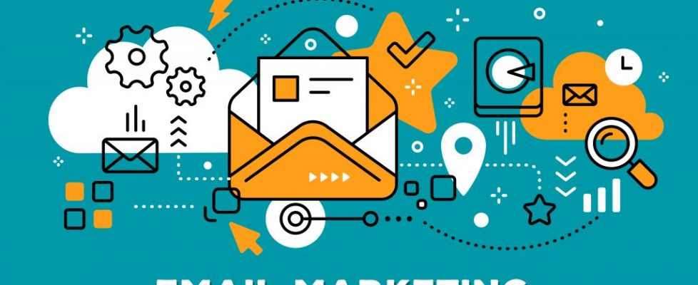 email marketing - orange & teal